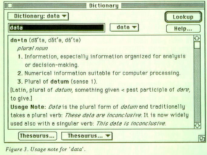 AMERICAN HERITAGE ELECTRONIC DICTIONARY AND